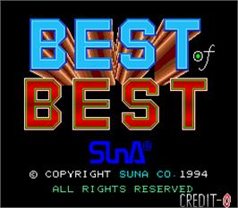 Title screen of Best Of Best on the Arcade.