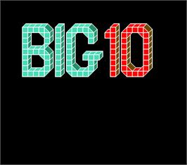 Title screen of Big 10 on the Arcade.