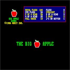 Title screen of Big Apple Games on the Arcade.