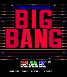 Title screen of Big Bang on the Arcade.