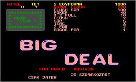 Title screen of Big Deal on the Arcade.