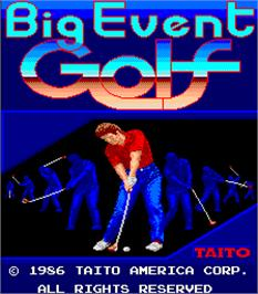 Title screen of Big Event Golf on the Arcade.