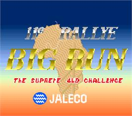 Title screen of Big Run on the Arcade.