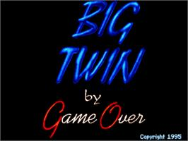 Title screen of Big Twin on the Arcade.