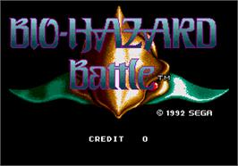 Title screen of Bio-hazard Battle on the Arcade.