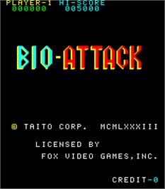 Title screen of Bio Attack on the Arcade.