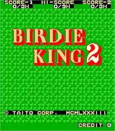 Title screen of Birdie King 2 on the Arcade.