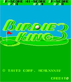Title screen of Birdie King 3 on the Arcade.