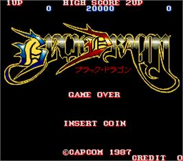 Title screen of Black Dragon on the Arcade.