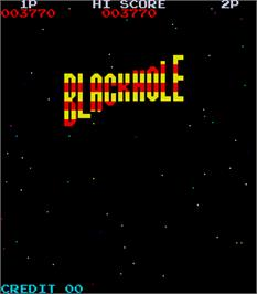 Title screen of Black Hole on the Arcade.