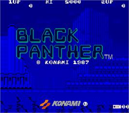 Title screen of Black Panther on the Arcade.