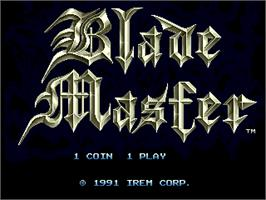 Title screen of Blade Master on the Arcade.