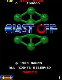 Title screen of Blast Off on the Arcade.