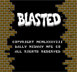Title screen of Blasted on the Arcade.