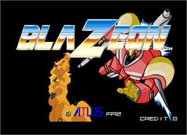 Title screen of Blaze On on the Arcade.
