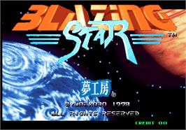 Title screen of Blazing Star on the Arcade.