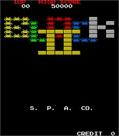 Title screen of Block 2 on the Arcade.