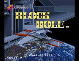 Title screen of Block Hole on the Arcade.