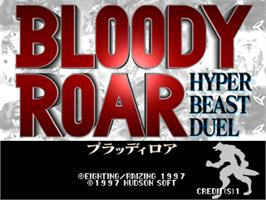 Title screen of Bloody Roar on the Arcade.