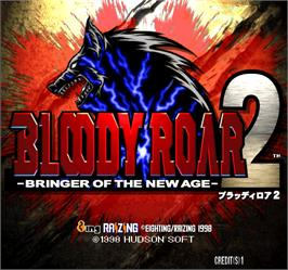 Title screen of Bloody Roar 2 on the Arcade.