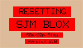 Title screen of Blox on the Arcade.