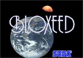 Title screen of Bloxeed on the Arcade.