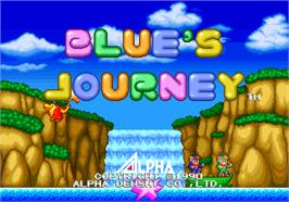 Title screen of Blue's Journey / Raguy on the Arcade.