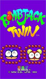 Title screen of Bombjack Twin on the Arcade.