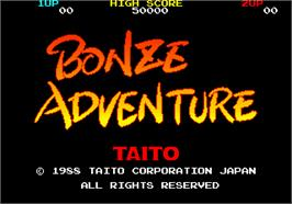 Title screen of Bonze Adventure on the Arcade.
