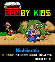 Title screen of Booby Kids on the Arcade.