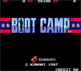 Title screen of Boot Camp on the Arcade.