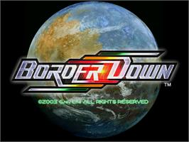 Title screen of Border Down on the Arcade.