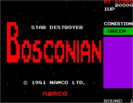 Title screen of Bosconian on the Arcade.