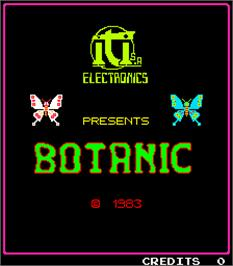 Title screen of Botanic on the Arcade.