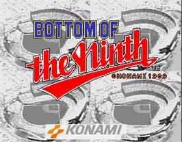 Title screen of Bottom of the Ninth on the Arcade.