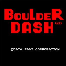 Title screen of Boulder Dash on the Arcade.