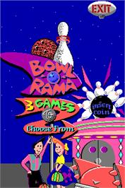 Title screen of Bowl-O-Rama on the Arcade.