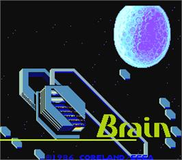 Title screen of Brain on the Arcade.