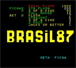 Title screen of Brasil 87 on the Arcade.