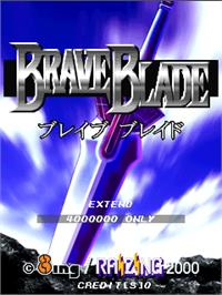 Title screen of Brave Blade on the Arcade.