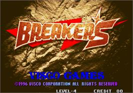 Title screen of Breakers on the Arcade.