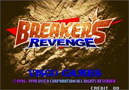 Title screen of Breakers Revenge on the Arcade.