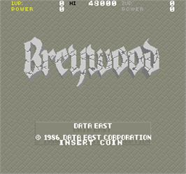 Title screen of Breywood on the Arcade.