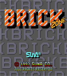 Title screen of Brick Zone on the Arcade.