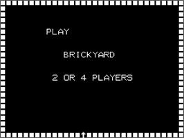 Title screen of Brickyard on the Arcade.