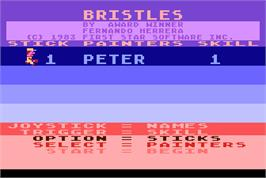 Title screen of Bristles on the Arcade.