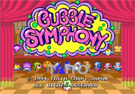 Title screen of Bubble Symphony on the Arcade.