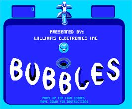 Title screen of Bubbles on the Arcade.