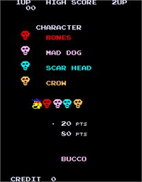 Title screen of Buccaneer on the Arcade.
