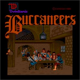 Title screen of Buccaneers on the Arcade.